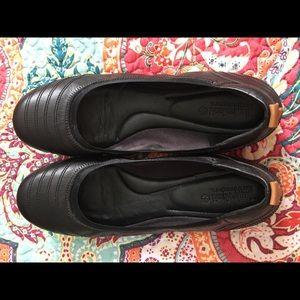 Timberland Black Leather Flats, size 12
